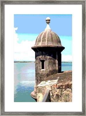 Sentry Box In El Morro Framed Print