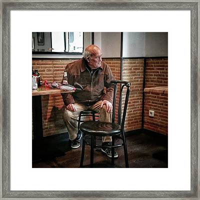 Señor #bar #portrait Framed Print