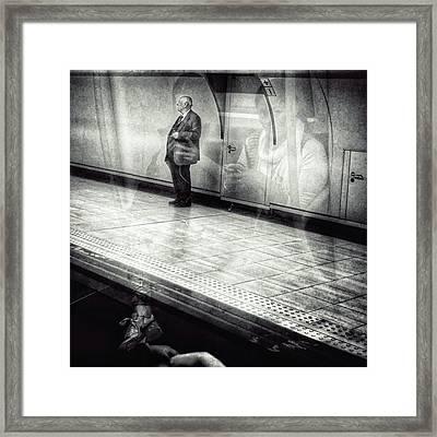 Señor #metro #underground #subway Framed Print