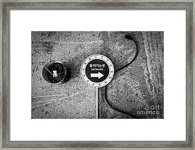 Framed Print featuring the photograph Seoul Entrance by Dean Harte
