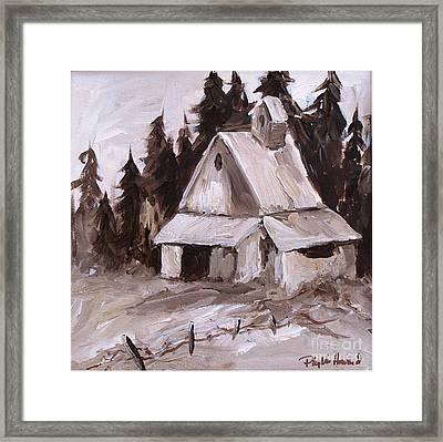 Sepia Barn Framed Print