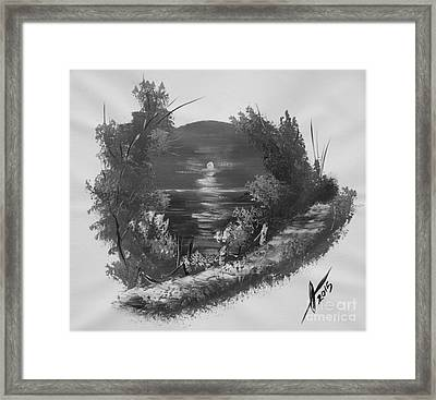 Sepia Caribbean Magic Framed Print