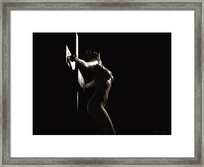 Sepia Crucifix V Framed Print