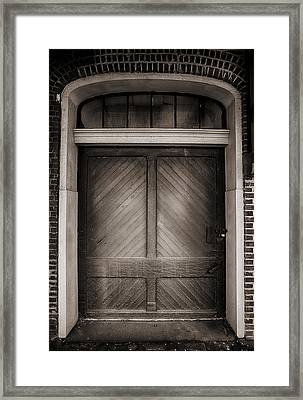 Sepia Doorway Framed Print