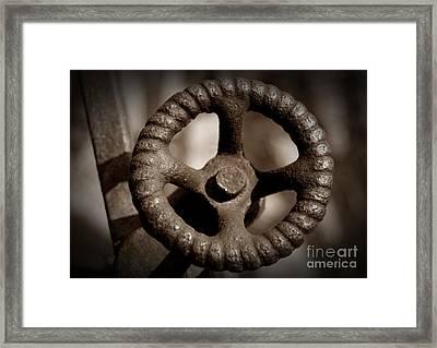 Sepia Knob Framed Print