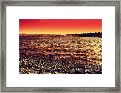 Sepia Lake Framed Print by Mickey Harkins