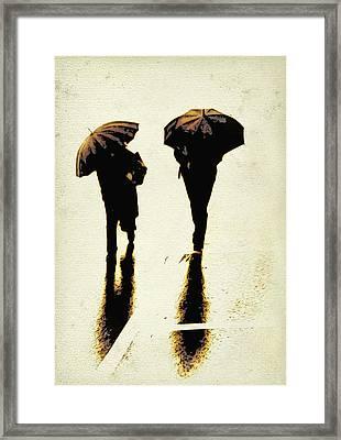 Sepia Rain Framed Print