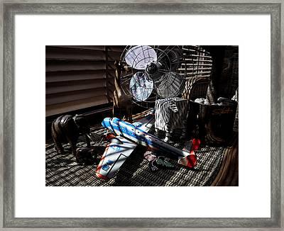Sepia Safari Framed Print