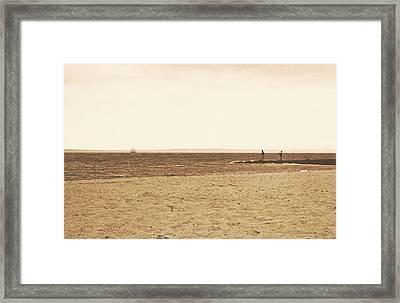 Sepia Sands Framed Print by JAMART Photography