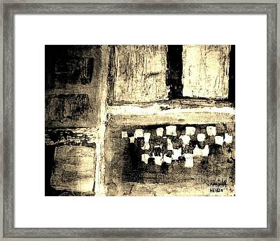 Sepia Squares Framed Print by Marsha Heiken