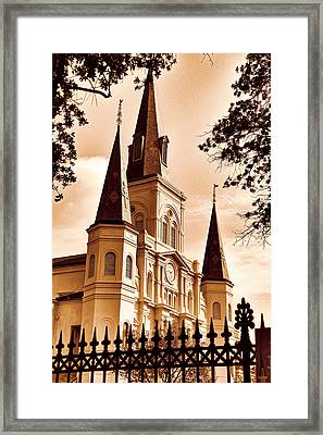 Sepia St. Louis Cathedral Framed Print