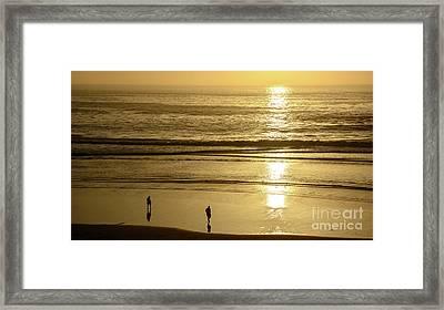 Framed Print featuring the photograph Sepia Sunset by Susan Wiedmann