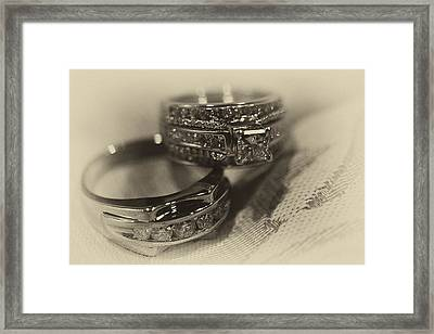 Sepia Wedding Ring Example Framed Print by David Patterson
