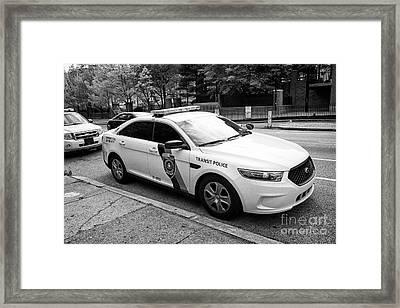 septa southeastern pennsylvania transit authority transit police ford cruiser patrol car Philadelphi Framed Print