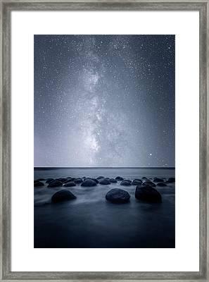 Septarian Concretions Framed Print by Dustin LeFevre
