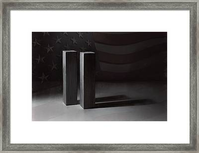 September 11, 2001 -  Never Forget Framed Print by Scott Norris