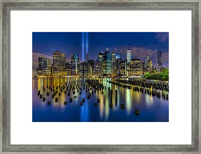 September 11 Nyc Tribute Framed Print by Susan Candelario