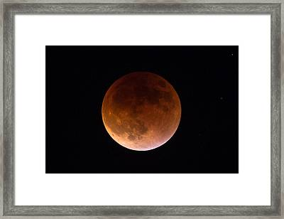 September 27 Super Moon Eclipse Framed Print by John Daly
