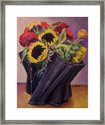 Framed Print featuring the painting September Cincher by Laura Aceto
