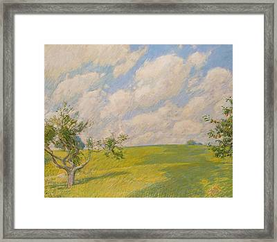 September Clouds Framed Print by Childe Hassam