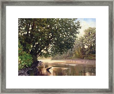September Dawn Little Sioux River - Plein Air Framed Print by Bruce Morrison