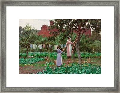 September Framed Print by Edmund Blair Leighton