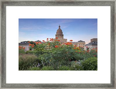 September Flowers At The State Capitol 1 Framed Print by Rob Greebon