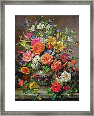 September Flowers   Symbols Of Hope And Joy Framed Print by Albert Williams