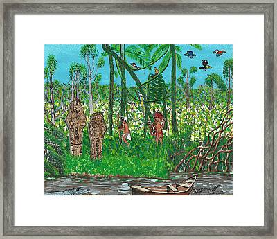 September   Hunters In The Jungle Framed Print
