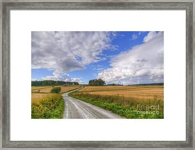 September In The Countryside Framed Print by Veikko Suikkanen