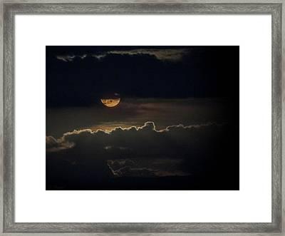 September Moon Framed Print