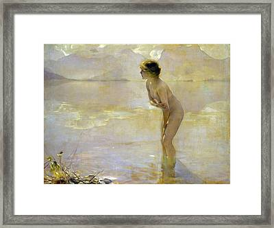 September Morn Framed Print