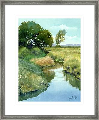 September Morning, Allen Creek Framed Print