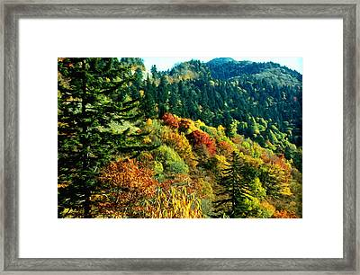 September Mountainside Framed Print by Kevin  Sherf
