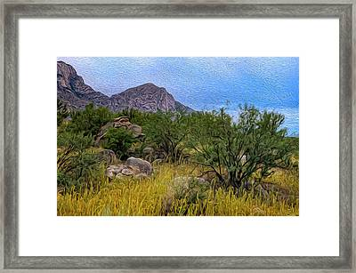 Framed Print featuring the photograph September Oasis No.2 by Mark Myhaver