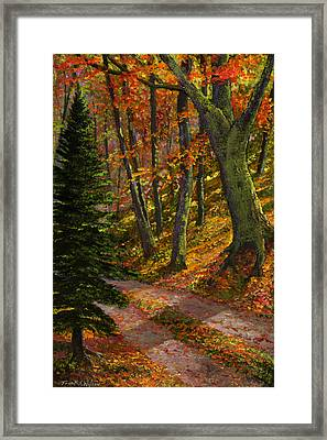 September Road Framed Print
