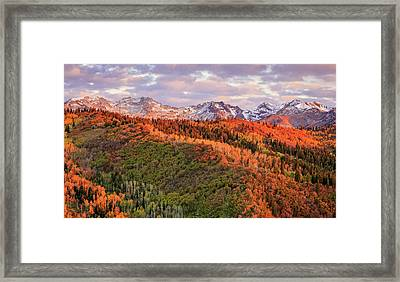 Framed Print featuring the photograph September Snow In The Wasatch Back. by Johnny Adolphson