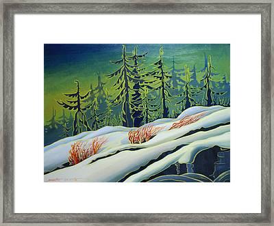 September Snow Framed Print by Santo De Vita