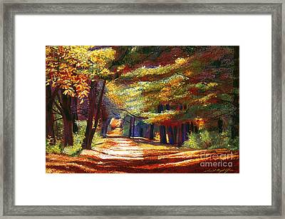 September Song Framed Print by David Lloyd Glover