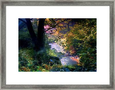 September Stream Framed Print by Ron Jones
