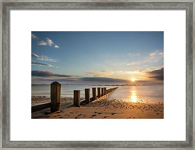 September Sunrise At Aberdeen Beach Framed Print