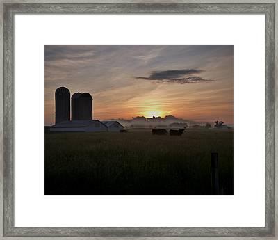 September Sunrise Framed Print by Robert Geary
