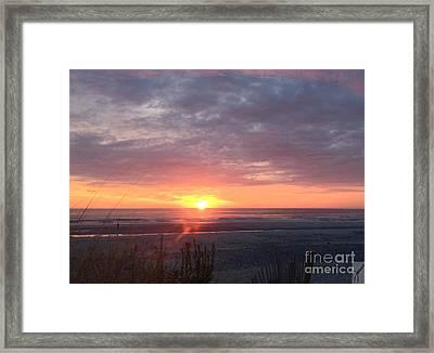 September Sunrise September 3 2016 Framed Print by Janice Reed Messier