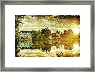 September Sunset In Chenonceau - Vintage Version Framed Print