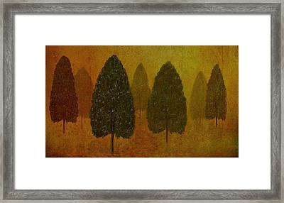 September Trees  Framed Print by David Dehner