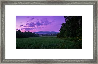 Framed Print featuring the photograph September Twilight by Chris Bordeleau