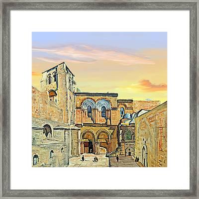 Sepulchre Church Painting 1928 Framed Print