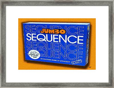Sequence Board Game Painting Framed Print by Tony Rubino