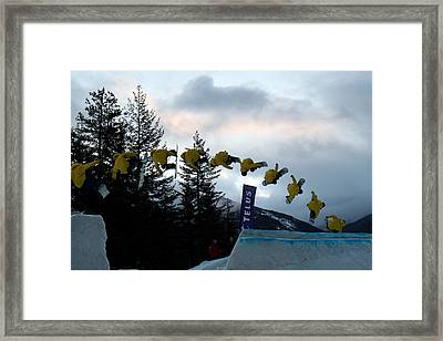 Sequence  Of A Snowboarder At The Telus Snowboard Festival Whistler 2010 Framed Print