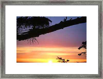Sequim Sunset Ss 2007 Framed Print by Mary Gaines